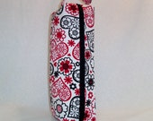 SALE Long Zippered Box Tote - knitting / crochet / spinning / drop spindle project bag