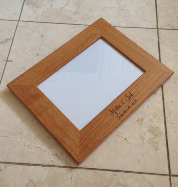 Engraved Wood Picture Frame, Wedding Gifts, Personalized Picture Frame ...