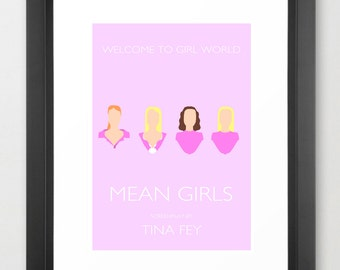 Mean Girls Minimal Movie Poster