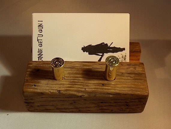 items similar to fathers day gift rustic reclaimed wood business card holder spent shotgun. Black Bedroom Furniture Sets. Home Design Ideas