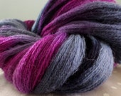 Berry good - hand dyed lace weight yarn