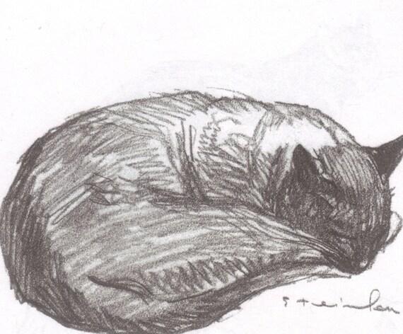 Steinlen Cats Drawings Items Similar to Steinlen Cat