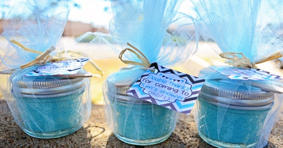 Items similar to 50 4oz sugar scrub baby shower party favors items similar to 50 4oz sugar scrub baby shower party favors girl or boy bridal showerwedding twin favors on etsy negle Images