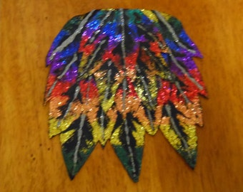 Rainbow Feather Barrette