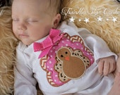 Girl's Thanksgiving Turkey Embroidered Shirt or Onesie (Sizes 9m-5T)