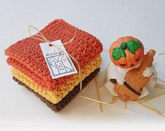Crochet / Halloween Color Cotton Dish Cloths