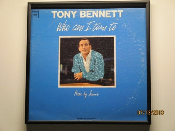 Glittered Record Album - Tony Bennett - Who Can I Turn To