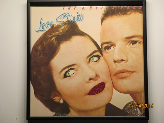 Glittered Record Album - The J. Geils Band - Love Stinks