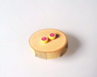 Super Adorable Grapefruit Micro Stud Earrings