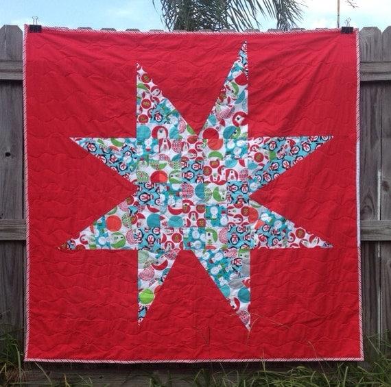 Modern Star Christmas Quilt
