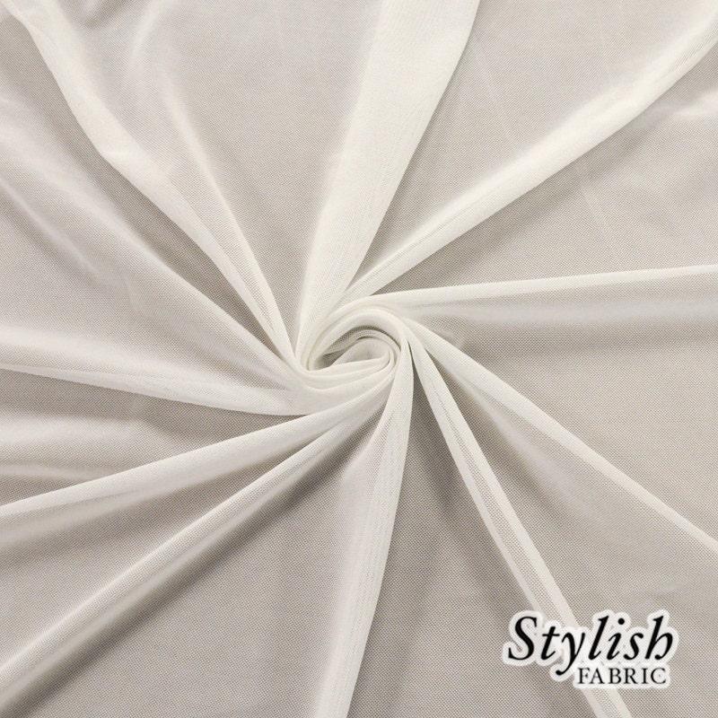 Solid Power Mesh Fabric Nylon Spandex 60 wide Stretch