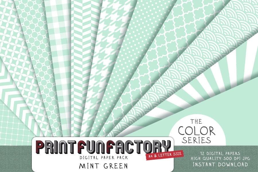 mint green digital paper mint paper scrapbook backgrounds 12 digital papers 052 instant. Black Bedroom Furniture Sets. Home Design Ideas