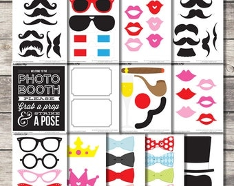 SALE - INSTANT DOWNLOAD - Diy Printable Photo Booth Props - Printable ...