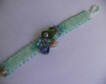 Mint Green Cluster Bracelet
