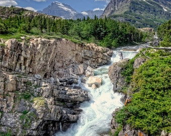 Fine Art Print of Swiftcurrent Falls - Montana, USA
