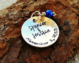 Something Blue - Personalized Wedding Charm - Prom Charm - Wedding Gift - Gift for Bride - Bouquet Charm - Garter Charm - Personalized Charm