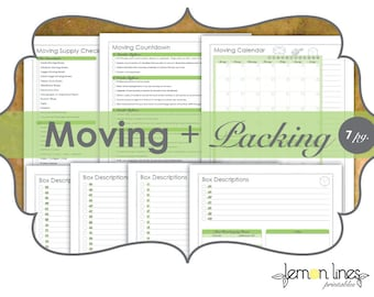 Moving & Packing Printables Pack - INSTANT DOWNLOAD