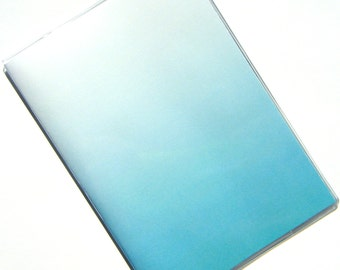 Ombre Passport Holder Cover Case -- Turquoise