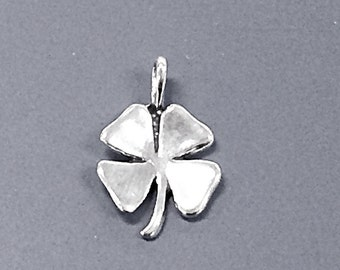 Four Leaf Clover, Lucky Clover, Good Luck Sterling Silver Charm - SP683