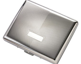 Personalized Quality Double Sided Silver Cigarette Case