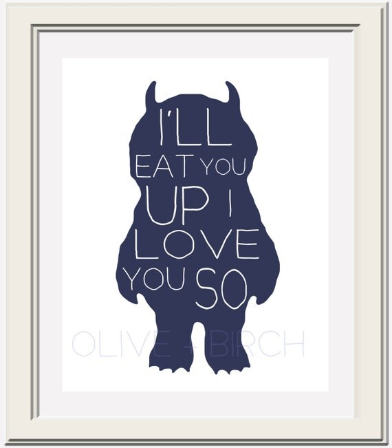 Where the Wild Things Are Nursery Printable, I'll Eat You Up I Love You So