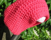 FREE SHIPPING Flourescent Reversible Slouchy Beanie for Adults/Youth in Bright Neon Pink