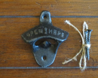 Oil Rubbed Bronze Bottle Opener / Cast Iron /Vintage Inspired / Mancave /Kitchen Decor/Gameroom/Patio/Groomsman Gift/Stocking Stuffer