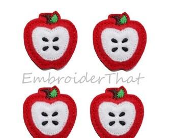 UNCUT RTS Back to School Apple felt applique embellishments (4)