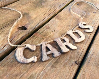 Wooden Cards Banner - Rustic Wedding Card Box Insert - Wedding Card Chest - Cards Sign - Wedding Sign - Wedding Card Box - Cards Banner