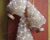 Bottle Brush Trees-Cream Pearls and Snow-Set of Three