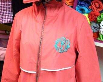 Coral rain jacket – Etsy
