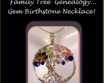 birthstone Jewelry,Tree of life jewelry,Mother bithday,mother daughter jewelry,mother child jewelry,personalized jewelry,Family Tree,zen
