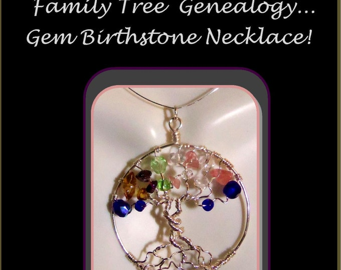 mother gift,wife gift,grandmother gift,mother daughter jewelry,Family Birthstone jewelry,tree of life jewelry