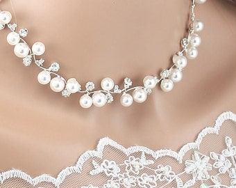 Bridal Necklace Wedding Necklace Crystal Pearl Wedding Bridal Necklace Set Bridal Jewelry Wedding Jewelry Bridal Accessories Style-N26