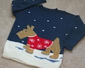 SCOTTIE DOG In The Snow Sweater