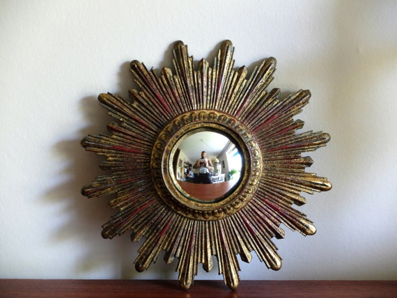 Reserv pour kathryn ancien petit miroir soleil oeil de for Petit miroir soleil