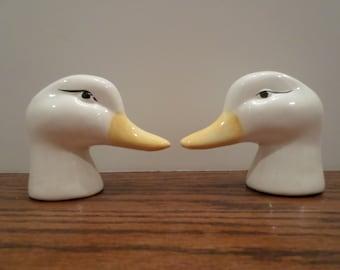 Vintage Duck Head Salt and Pepper Shakers