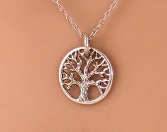Tree of Life : 925 Sterling Silver  Charm / necklace