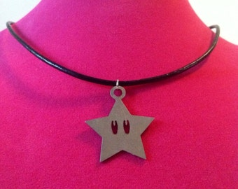 Stainless Steel Mario Star Necklace