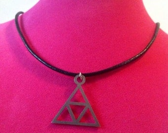 Stainless Steel Triangle Necklace