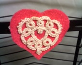 Tatted heart magnets