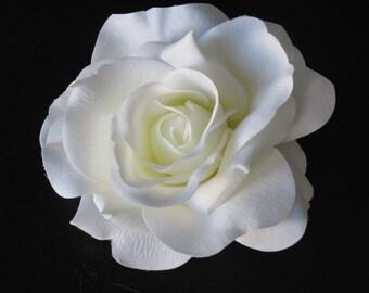 Ivory Bridal Flower Hair  Clip Wedding Hair Clip  Wedding Accessory Ivory Rose Bridal Hair Clip