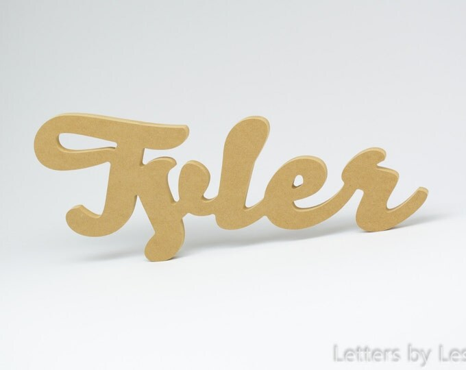 DIY Unpainted Personalized Children's Wood Wall Name Signs. Wood Letters for Nursery. Wall Letter Nursery Decor, DIY Nursery, Kids Name Sign