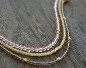 BRACELET SET NEAPOLITAN stoneware gem gold - TwigAndThorn