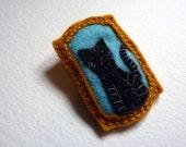 Mini Cat Portrait in Felt - Super Cute Brooch