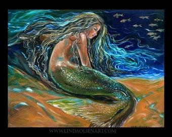 Mermaid art- An Undersea Repose