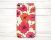 iPhone 4 Case, iPhone 4 Cases , iPhone 4S Case, iPhone 4 Case Wrap Around - Poppy - 041
