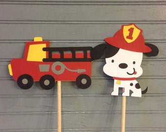 Fire Truck Centerpiece