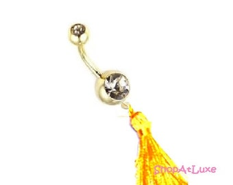 Golden Glam Couture Tassel Dangler Belly Ring - Save 25% Off With Code: SHOPATLUXE4FAVORITES