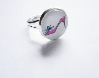 Ring pink Shoes adjustable